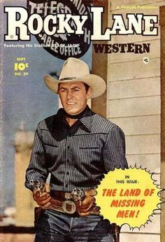 western paperback covers | ... Lane Western Comic Books. Rocky Lane Western Comic Book covers gallery