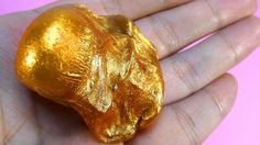 GOLD LIQUID METAL PUTTY , DIY GOLDEN SLIME MELTS IN YOUR HAND - Elieoops