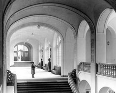 The main hall inside Gestapo HQ - a building that had once been an art museum. This Day in History: Apr 26, 1933: The Gestapo, the official secret police force of Nazi Germany, is established. http://dingeengoete.blogspot.com/