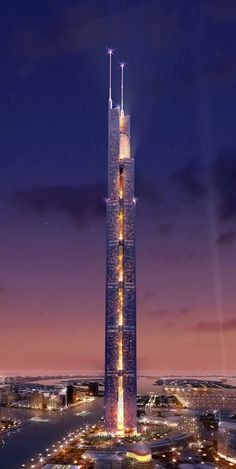 The Al Burj the centerpiece of the Dubai Waterfront...the tallest structure in the world to date #dubai #uae