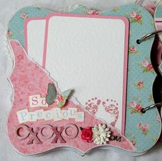 Baby Girl Mini Album - found on Papered Memories - via My Scrappy Blog - Wendy Schultz ~ Baby Gifts.