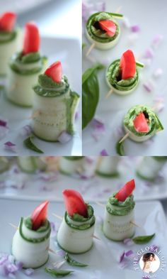 The Global Girl Raw Food Recipes: Raw Zucchini Roll Ups With Herbed Macadamia Cheese. 10% vegan, gluten free, dairy free and oil free.