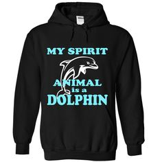 MY SPIRIT ANIMAL IS A DOLPHIN T-Shirts, Hoodies. VIEW DETAIL ==► https://www.sunfrog.com/No-Category/MY-SPIRIT-ANIMAL-IS-A-DOLPHIN-3754-Black-Hoodie.html?id=41382
