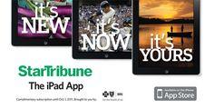 Star Tribune iPad App Advertising Campaign on App Design Served