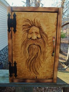hermit box cabinet by WoodcarvingByMike on Etsy