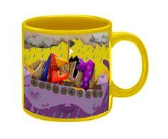 Caneca com ilustração. Entre no site da Uzinga Presentes Criativos  e vote nesta caneca para que eles possam produzí-la. www.uzinga.com.br