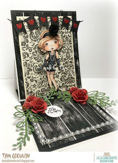 Toadally Love To Craft: La-La Land Crafts Flapper Molli Easel Card
