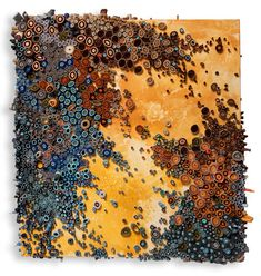 Eclectitude: Textural Paper Art from Amy Genser..remnds of painting, ceramics. Mosaic like but is paper