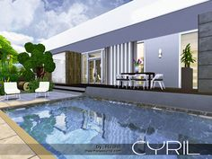 Cyril is a contemporary cottage for small or middle sim family.  Found in TSR Category 'Sims 4 Residential Lots'