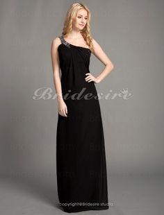 Etui-Linie Chiffon bodenlang 1-Schulter Abendkleid inspired by Kristen Bell at Goldgelben Globe Award - $108.99