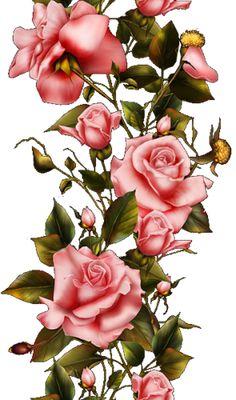 Victorian Flowers, Vintage Roses, Flower Images, Flower Art, Red Geraniums, Craft Images, Celebrity Drawings, Decoupage Vintage, Horse Drawings
