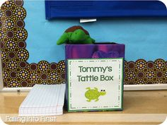 Classroom Management: Tommy Turtle's Tattle Box