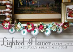 Lighted Flower Garland Tutorial   Positively Splendid {Crafts, Sewing, Recipes and Home Decor}