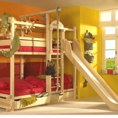 Bunk bed for my boys! Ethan wants a slide for his bunk bed:) Hmmmm