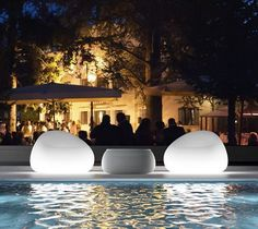 Gumball Armchair Light....want these around my pool.