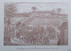 Der Kampf zwischen den Brücken am Tabor den 6ten Okt 1848 FRANZ WERNER Faksimile