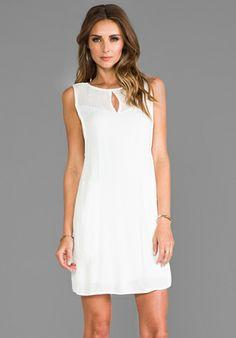 ELLA MOSS Stella Mesh Shift Dress in White - Revolve Clothing