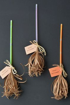 These hassle-free crafts are made from glow sticks, twine, scissors, kraft and construction paper, and double-sided tape. Get the tutorial at One Little Project.