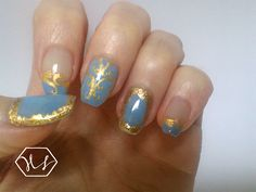 18th century baroque style inspired nail art on Hearty Nails