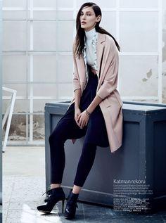 Gulcin Cengel skirt in Vogue Turkey September Issue