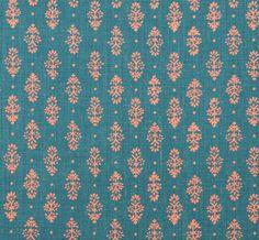 RAJKOT Peacock Coral (lisa fine textiles)
