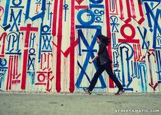 Street art by RETNA on Bowery/Houston Street - NYC