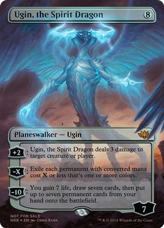 Ugin, the Spirit Dragon--I saw someone get one of these at prerelease. Yes, I contemplated stealing it.
