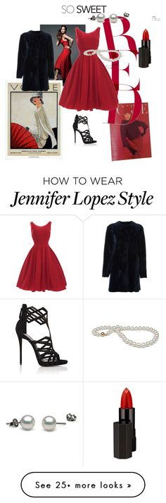 """""""red dress"""" by sariahfranklin on Polyvore featuring Jennifer Lopez, Giuseppe Zanotti, Serge Lutens Beauté and Drome"""