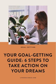 Consider these 6 steps your official Goal-Getting Guide; you'll be taking major action towards your dreams this year. Set Your Goals, Achieve Your Goals, Career Goals, Life Goals, Girl Boss Quotes, Go Getter, Take Action, How To Wake Up Early, Subconscious Mind