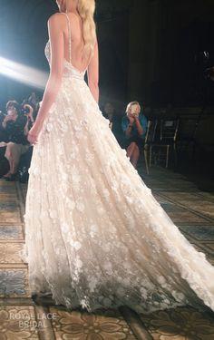Berta Bridal Wedding Dresses Fall 2016 Runway Collection real bride, wedding inspiration, wedding ideas, bridal gown, laser cut flowers, beaded dress, ball gown