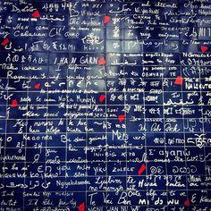 """Il muro dei """"Je t'aime"""" a Parigi, Île-de-France"""