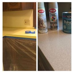 how to redo countertops with spray granite | countertops, granite