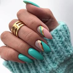30 Funky Summer Nail Designs To Impress Your Friends - Nail Art - Nageldesign Summer Acrylic Nails, Cute Acrylic Nails, Summer Nails, Acrylic Art, Beautiful Nail Designs, Cool Nail Designs, Acrylic Nail Designs, Tropical Nail Designs, Striped Nail Designs