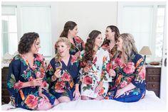 Bride and Bridesmaids Matching Floral Robes | Sand Rock Farm Wedding Photographer - Aptos Wedding - Jon&Megan - Chico California Wedding Photography and Videography by Chico Photographer Videographer Couple TréCreative