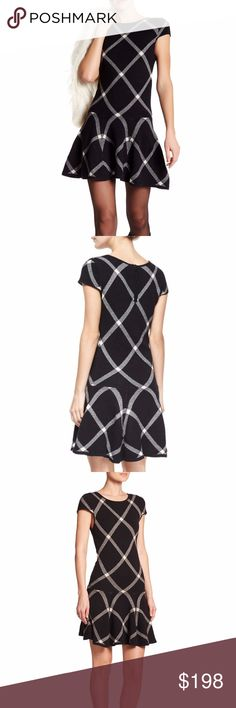 ALICE + OLIVIA Diagonal Plaid Dropped Waist Dress RETAIL PRICE: $348.00  SIZE: XS  condition: NEW WITH TAG. Alice + Olivia Dresses Mini