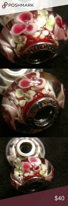 Pandora Murano Glass 925 ale charm This is one of my favorite pieces. The layering of colors is absolutely beautiful. Please see photos for description and detail. Pandora Jewelry