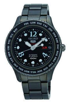 Seiko 5 Automatic Black Dial Black PVD Ladies Watch * To view further for this item, visit the image link. Seiko 5 Sports, Seiko 5 Automatic, Seiko Watches, Casio Watch, Lady, Chronograph, Mens Fashion, Sun, My Style