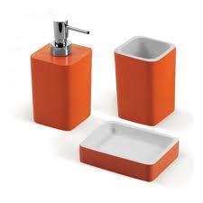 orange bathroom accessories google search - Bathroom Accessories Orange