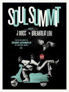 Soul Summit - J.rocc - Breakbeat Lou by Scott Williams Design