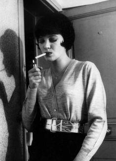 "Anna Karina, in Jean-Luc Godard's ""Vivre Sa Vie,"" 1962."