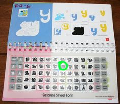 Label your cricut books for easily finding the design on the touch screen.  GREAT IDEA!  R2-6 is row 2, 6 buttons over.