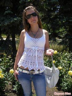 RECETAS DE CROCHET: blusa blanca LINDA Croche
