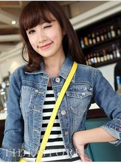 Shop Boutique Korean Style Turndown Collar Denim Blue Jacket on sale at Tidestore with trendy design and good price. Come and find more fashion Denim Jackets here. Uk Fashion, Korean Fashion, Denim Jacket Fashion, Blue Denim, Denim Shorts, Jeans, Boutique, Clothes For Women, My Style