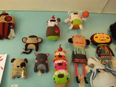 Various works from Plush You! in Oct 2010. Love the colors and shapes.