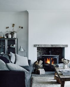 The cosy winter home of photographer Michael Sinclair - with a beautiful array of natural textures.