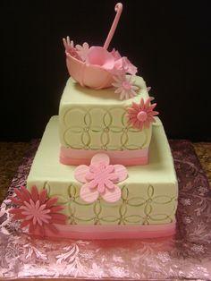 umbrella baby shower cake - Google Search