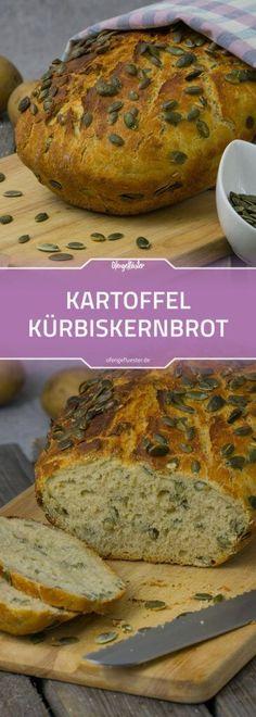 Kartoffelbrot mit Kürbiskernen aus dem Römertopf #rezept #brot #backen