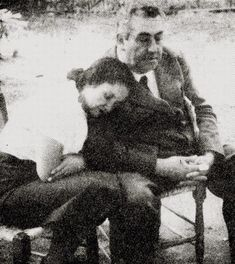 Violeta Parra and the poet, Pablo de Rokha
