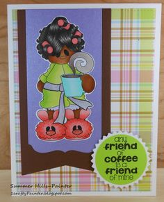 Pink and Main Need Coffee Clear Photo Polymer Stamps