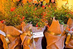 mudinhas de flores como lembrancinha
